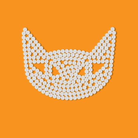 pill, tablet, cat