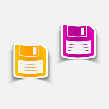 diskette: realistic design element: diskette Illustration