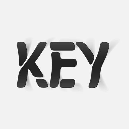 key words art: realistic design element: key Illustration