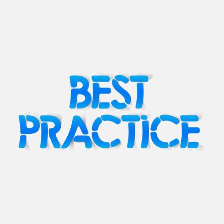 практика: реалистичный элемент дизайна: лучшие практики Иллюстрация