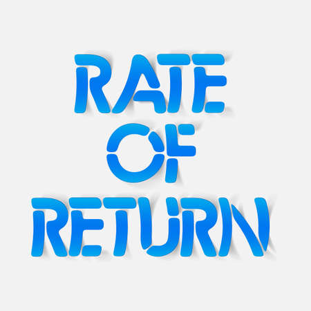realistic design element: rate of return Illustration