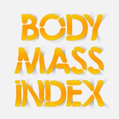 �ndice: elemento de design realista: �ndice de massa corporal Ilustra��o