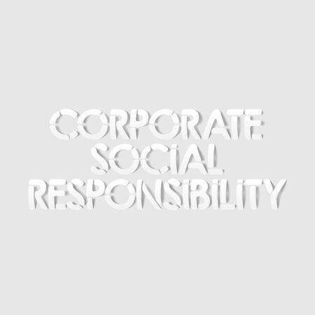 corporate social: realistic design element: corporate social responsibility Illustration