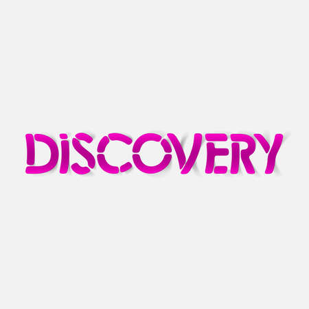 realistic design element: discovery Illustration