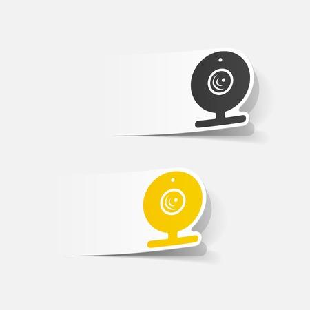 webcam: realistic design element: webcam, camera Illustration