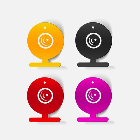 realistic design element: webcam, camera Illustration