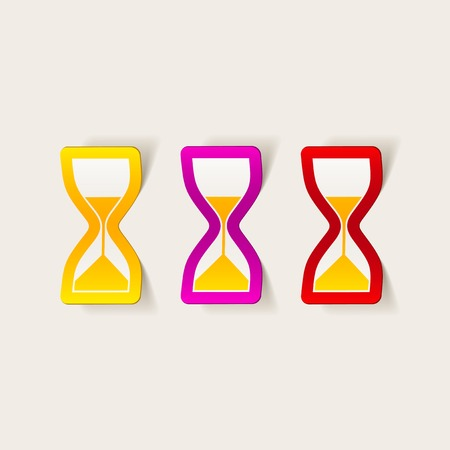 realistic design element: hourglass Vector
