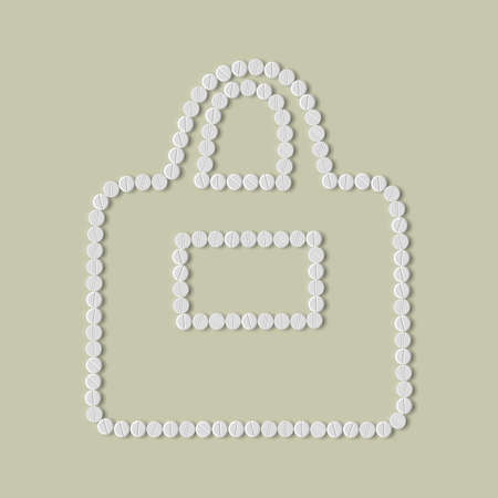 retail therapy: pills concept: bag, fashion