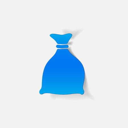 burlap bag: realistic design element: sack