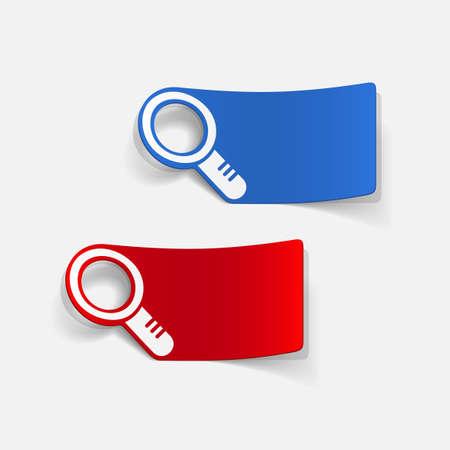 realistic design element: magnifier Illustration