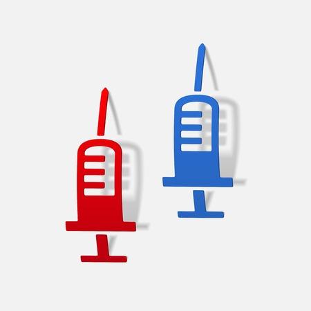 realistic design element: syringe, medical