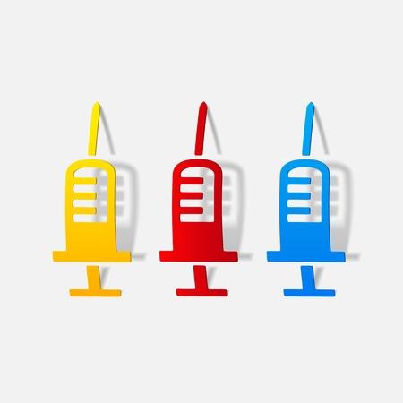 realistic design element: syringe, medical Vector