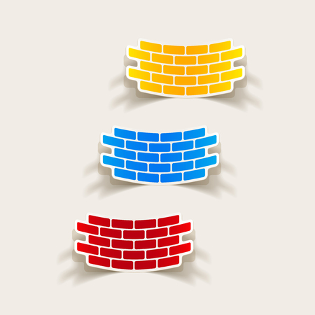 realistic design element: brick, construction Vector