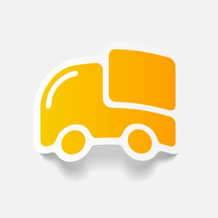 car delivery: realistic design element: car, delivery Illustration