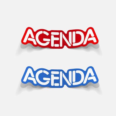 agenda: realistic design element: agenda Illustration