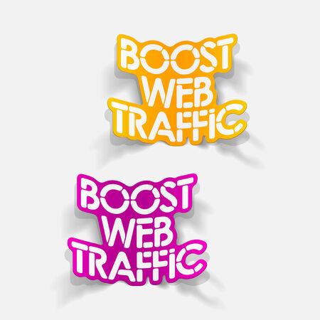 coup de pouce: r�aliste �l�ment de design: le trafic Web de suralimentation Illustration