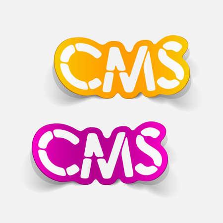 realistic design element: CMS Vector