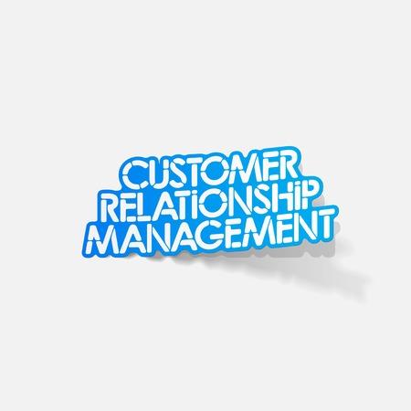 relationship management: realistic design element: Customer Relationship Management