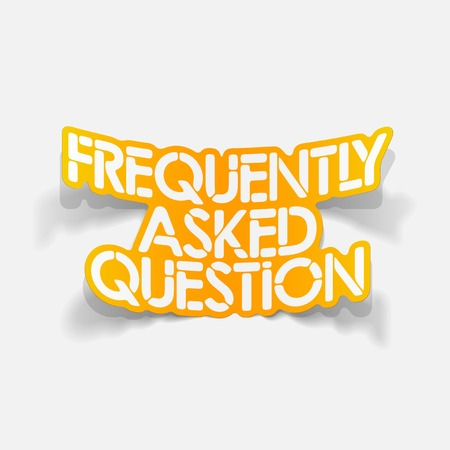 frequently asked question: realistic design element: Frequently Asked Question Illustration