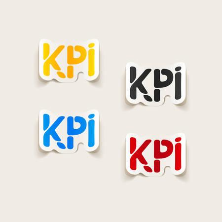 kpi: realistic design element: KPI Illustration