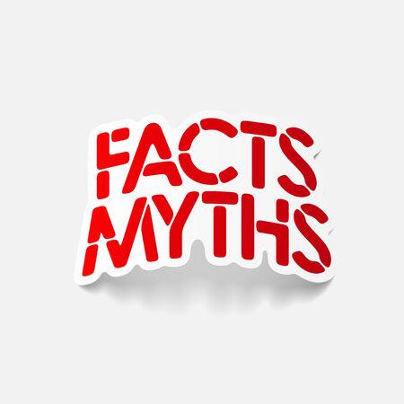 realistic design element: facts - myths Illustration