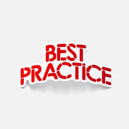best practice: realistic design element: best practice