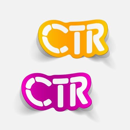 realistic design element: ctr