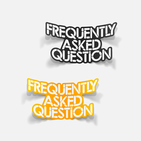 asked: realistic design element: Frequently Asked Question Illustration