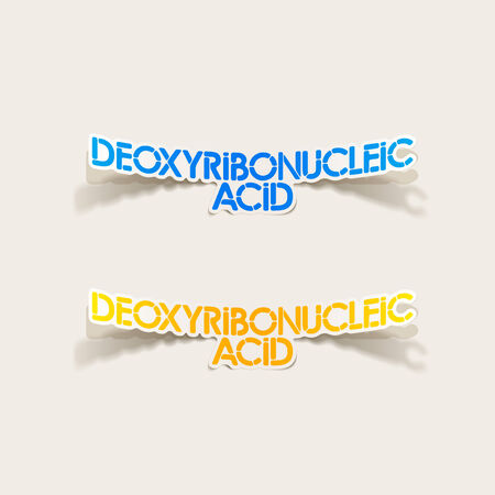deoxyribonucleic: realistic design element: Deoxyribonucleic acid Illustration