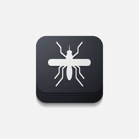 mosquitoes: app concept, mosquito, insect Illustration