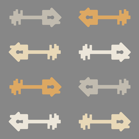 seamless background, home, house, building, key Vector