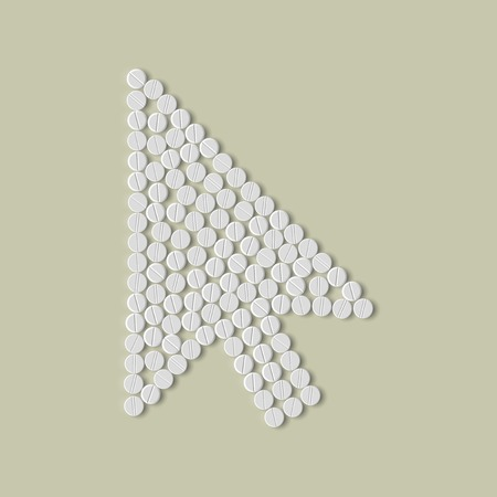 pills concept, cursor, arrow Vector