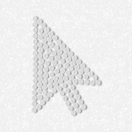 pills concept, cursor, arrow Vector