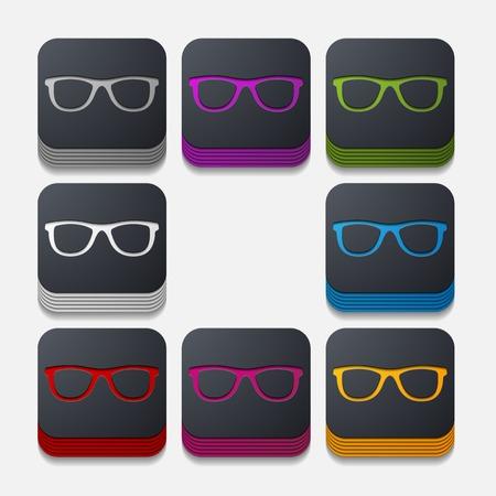 miopia: pulsante quadrato: occhiali