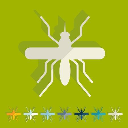 Flat design: mosquito Vector