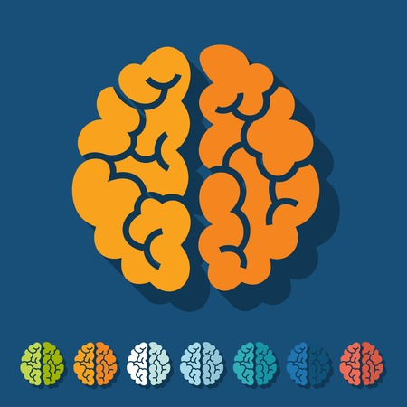 Flat design: brain Vector