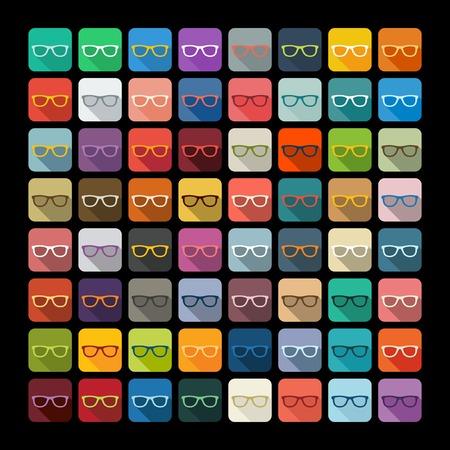 miopia: Design piatto: gli occhiali Vettoriali