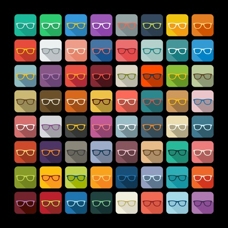 hyperopia: Flat design: glasses