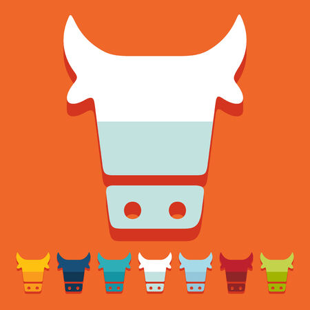Flat design: cow Vector