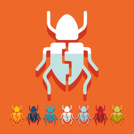 Flat design: beetle