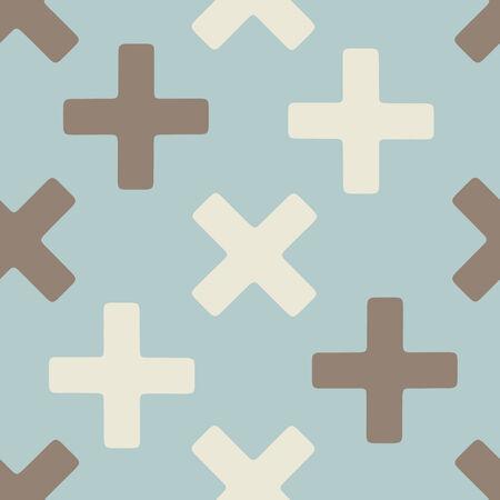 refusing: seamless background: cross