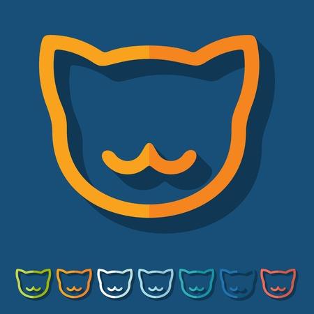 meow: Flat design: cat