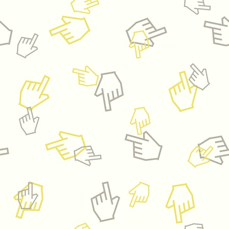 seamless background: hand Vector