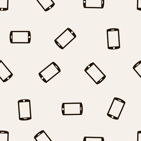 seamless background: smartphone Vector