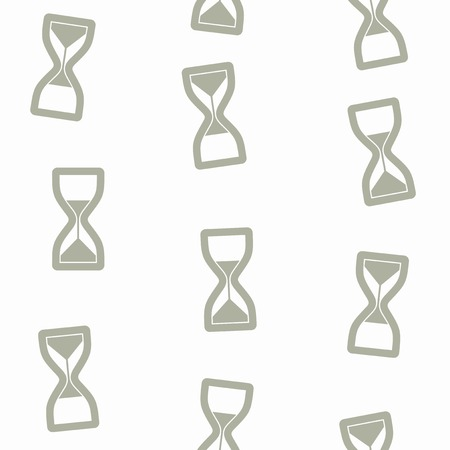 seamless background: hourglass Vector