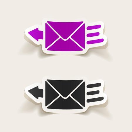 realistic design element: newsletter Illustration