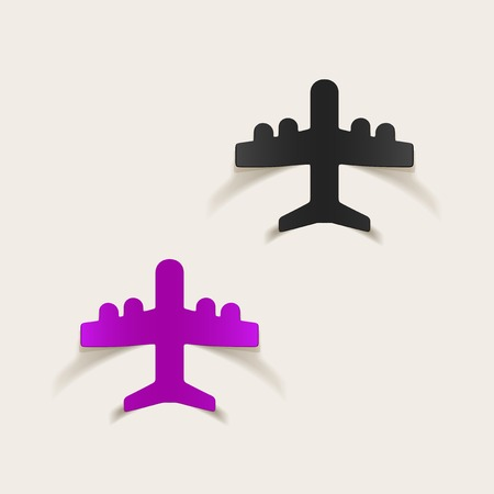 realistic design element: plane Vector