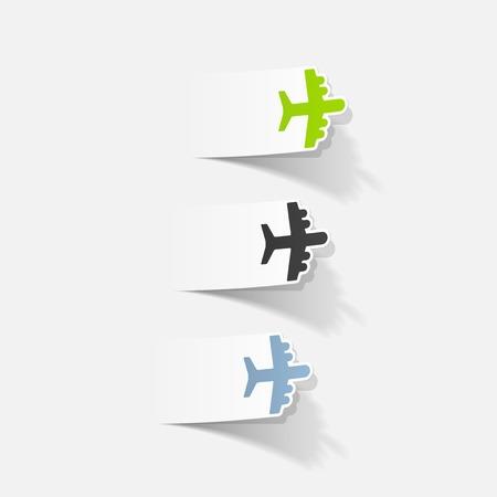 사실적인 디자인 요소 : 비행기