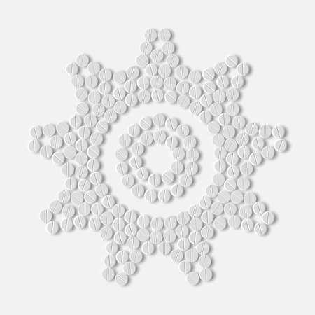 pills concept: cogwheel Illustration