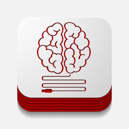 square button: usb Illustration
